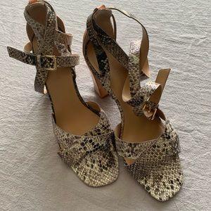 Banana Republic snakeskin heels